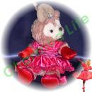 ダッフィー/ポーチ用 プリンセス風ドレスのコスプレ衣装/デ○ズニー