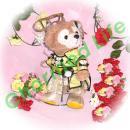 ダッフィー/ポーチ用 ゴージャスなチャイナドレスセット/A○B48/フライングゲット/M田敦子