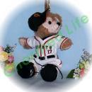 ダッフィー/ポーチ用 東京の2014年チームユニフォーム風コスプレ衣装/野球 ※番号・ネーム指定可