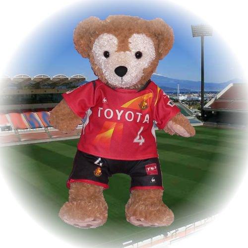 ダッフィー 服 Sサイズ 名古屋の2013年ユニフォーム風 ダッフィーのコスプレ服 衣装 サッカー 番号ネーム指定可