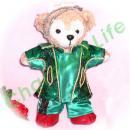 ダッフィー 服 ぬいバサイズ キラキラグリーンのロングジャケット・セット