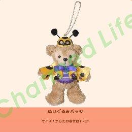 ダッフィー,TDS正規商品,ぬいぐるみバッジ,ハロウィーン2012 てんとう虫