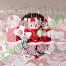 シェリーメイ,TDS正規商品,ぬいぐるみバッジ,X'mas2010 白ベスト&赤マフラー
