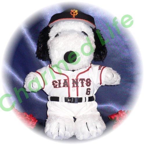 スヌーピー  東京の野球チームユニフォーム2014年風 ぬいぐるみのオーダーメイドコスプレ服  衣装