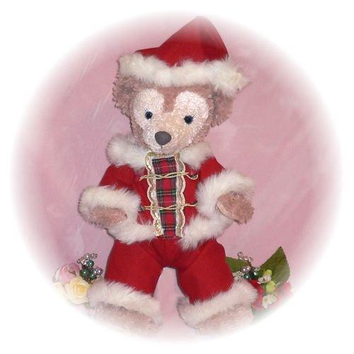 ダッフィー&シェリーメイ - S用 赤チェックのサンタクロース - クリスマス - その1