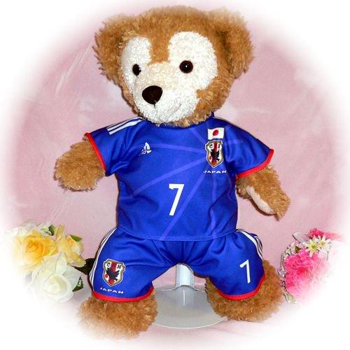 ダッフィー/S用 日本の代表2014年のユニフォーム風コスプレ衣装/サッカー ※番号・ネーム指定可