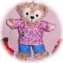 ダッフィー 服 ぬいバサイズ 2014 アロハシャツ風Tシャツセット ダッフィーのコスプレ服 衣装 5人組 BLAST