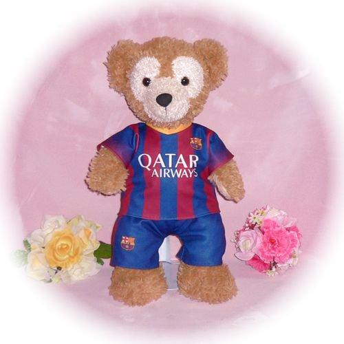 ダッフィー/Sサイズ用 バルセロナ ユニフォーム風衣装/サッカー