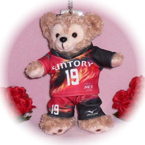 ダッフィー/ぬいバ用 サントリーサンバーズ 赤いユニフォーム風コスプレ衣装/バレーボール ※番号・ネーム指定可
