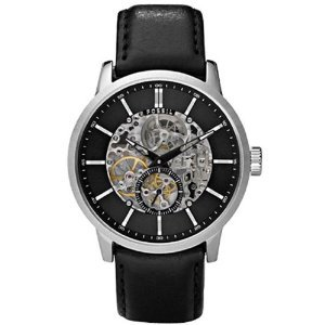 Fossil(フォッシル)Mechanical Automatic Leather Black