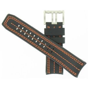 Luminox(ルミノックス)26mm Black/orange Leather  Watchband