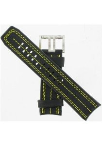 Luminox(ルミノックス)26mm Black/Yellow Leather Watchband