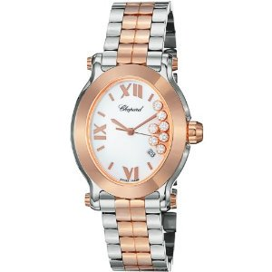 Chopard(ショパード)Happy Sport Oval Ladies Rose Gold & Steel Diamond 278546-6003
