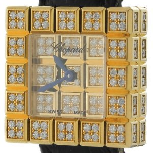 Chopard(ショパード)Ice Cube 934081 0.92ct Diamond 18K Yellow Gold Quartz Ladies