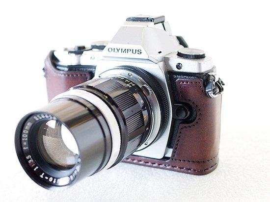 OLYMPUS PEN OM-D E-M5用レザースナップケース