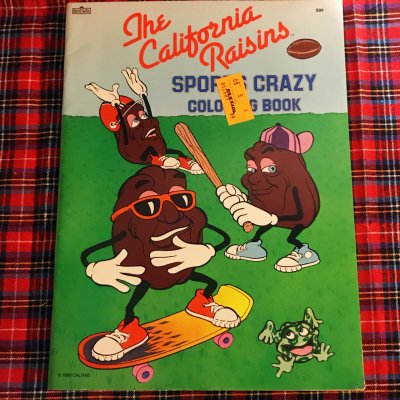the california raisins sports crazy coloring book boosmarket