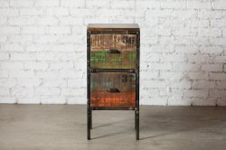IRON 2DRAWER WOOD CHEST