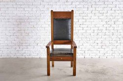 Orak Wood with Leather Chair