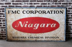 VINTAGE FMC CORPORATION SIGN