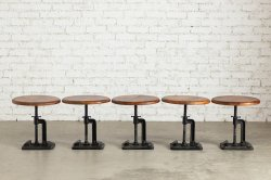 CAST IRON STOOL BLACK