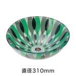 強化ガラス洗面ボウル フラワー(直径310mm)