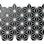 麻の葉 漆黒 FRO-002 / 13シート(1m×1mの広さ分)