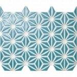 麻の葉 孔雀青 FRO-025 / 13シート(1m×1mの広さ分)