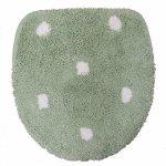 スイートドロップ  トイレフタカバー(特殊型:温水シャワートイレ、暖房便座用) グリーン