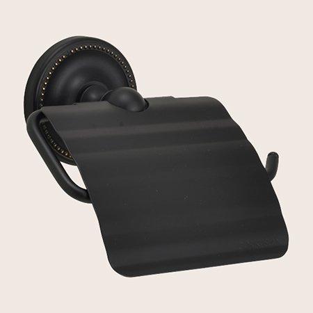 真鍮ブラック仕上げトイレットペーパーホルダー 黒色 TPH PB BK