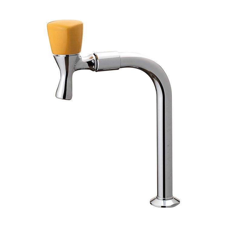 Jクランク陶器ハンドル単水栓 ヴァーベナイエロー