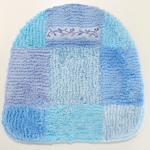 カラーデコール コルコンD  トイレフタカバー(特殊型:温水シャワートイレ、暖房便座用) ブルー