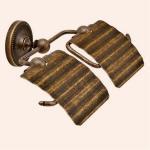 真鍮古色仕上げ2連トイレットペーパーホルダー TPH PB W AN