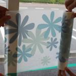壁用マスキングテープ 自在トリム SINCOL×mt 幅30cm×15m 花がら青