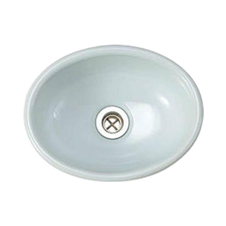 手洗器 Sオーバル 縹色(はなだいろ)