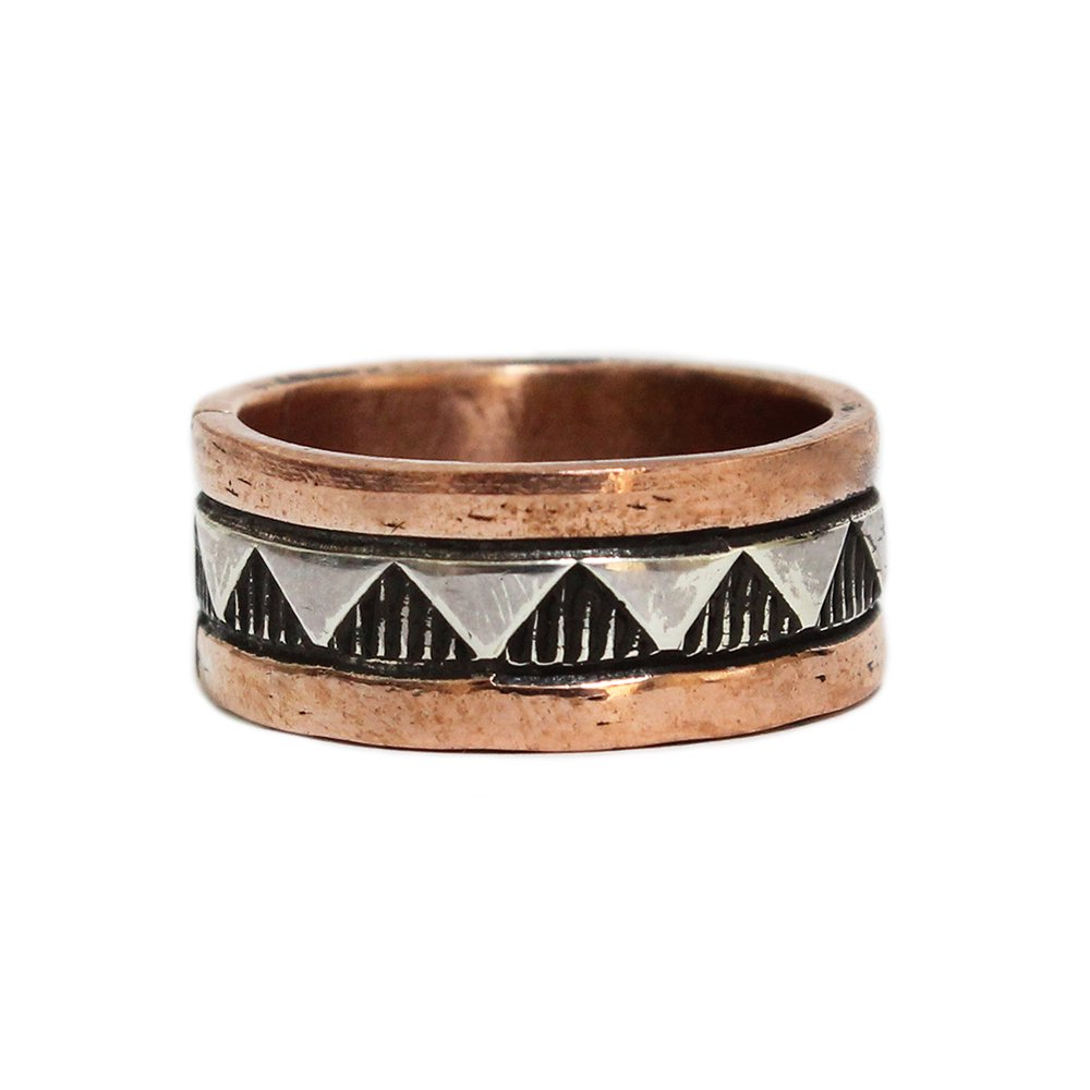 Navajo Indian Jewelry Copper Band Ring -Watson Smith-
