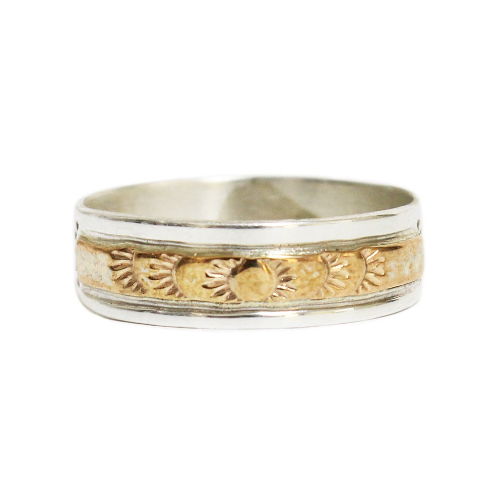 Navajo Indian Jewelry 12KGF Band Ring -K-