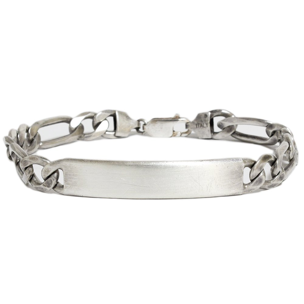 Vintage Italy ID Bracelet -Sterling Silver-
