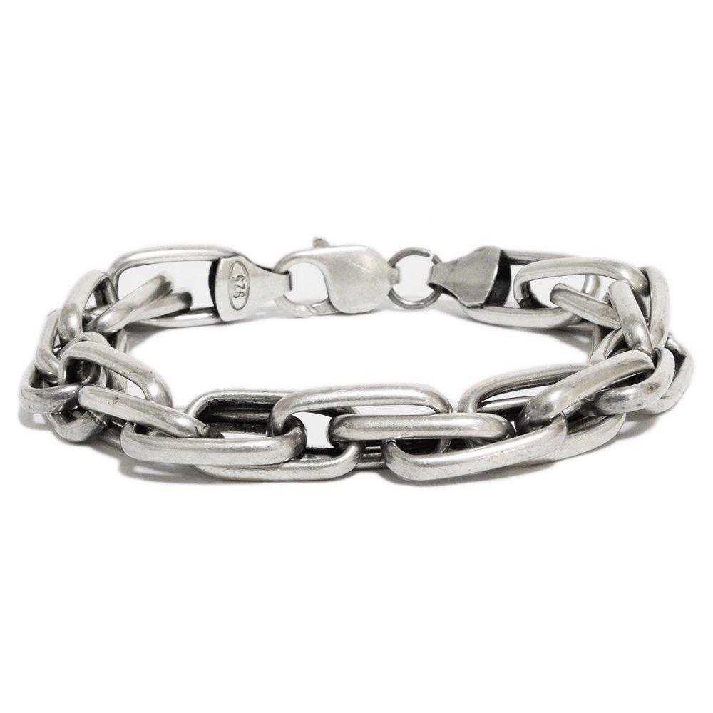Vintage 1970's DNA Links Chain Bracelet -Sterling Silver-