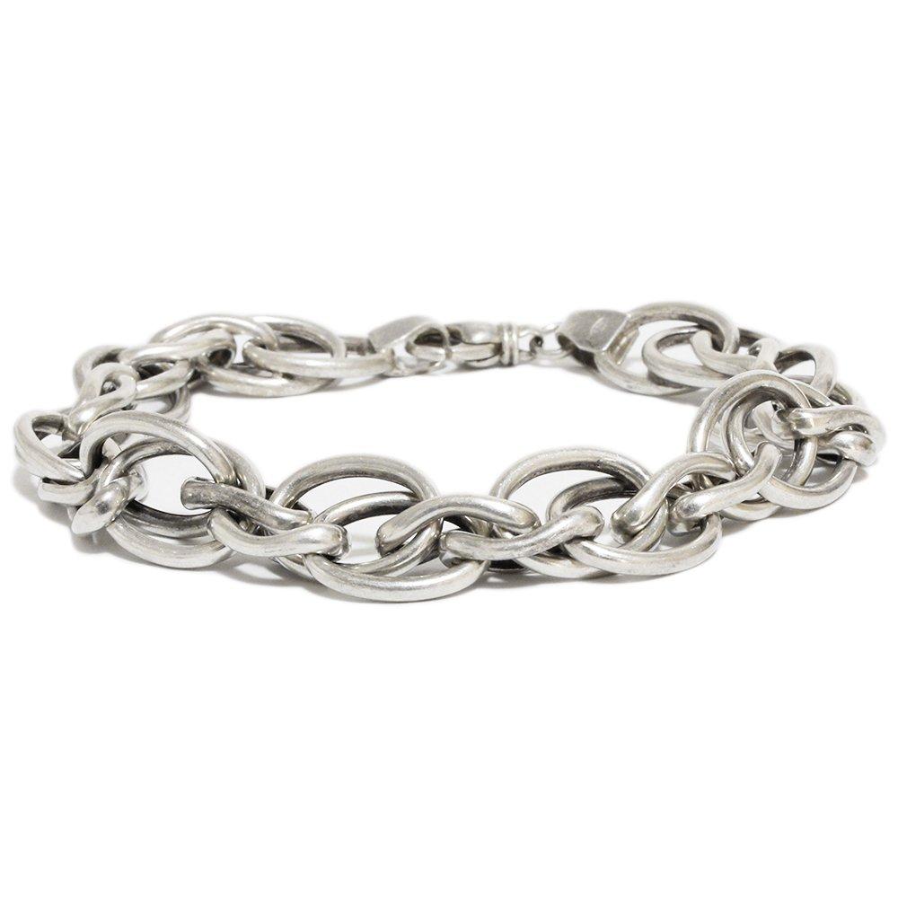 Vintage 1970's Multi Links Chain Bracelet -Sterling Silver-
