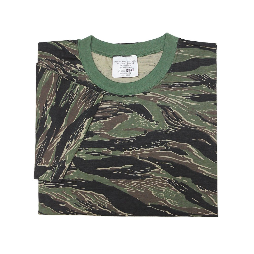 【Dead Stock】Vintage 1990's U.S. Army Tiger Stripe Camouflage T-Shirts