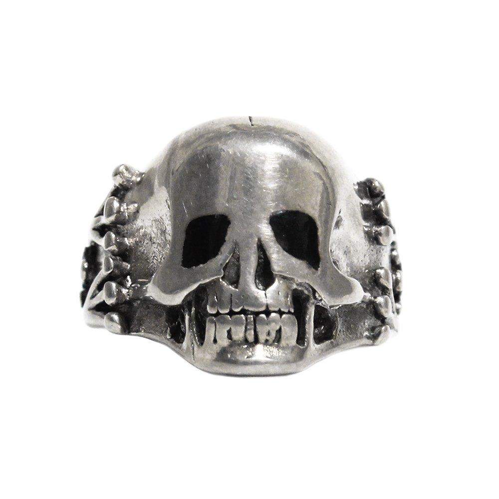 Vintage 1980's Gordon&Smith Skull Pinke Ring -Sterling Silver-