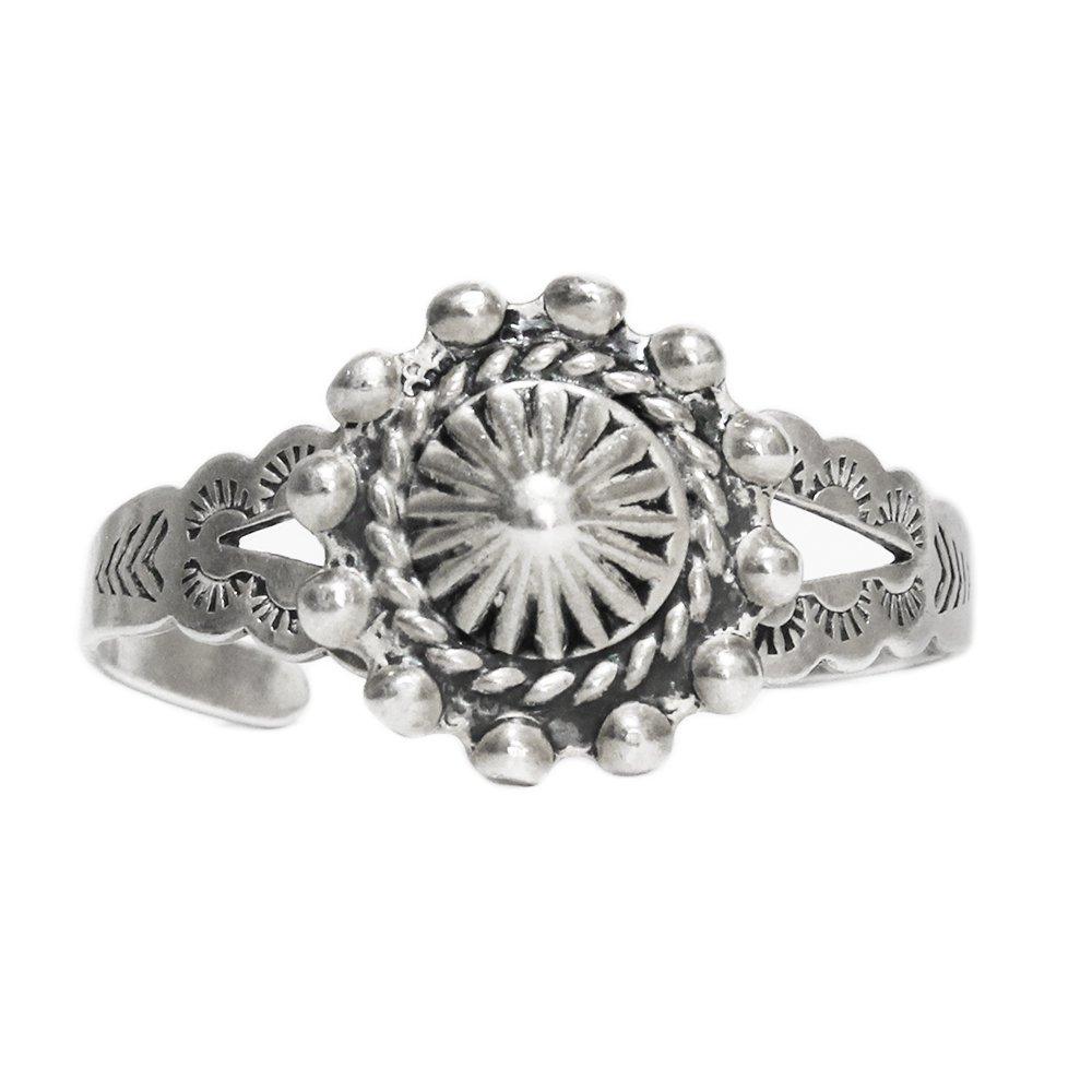 Navajo Indian Jewelry Stamp Work Cuff Ring