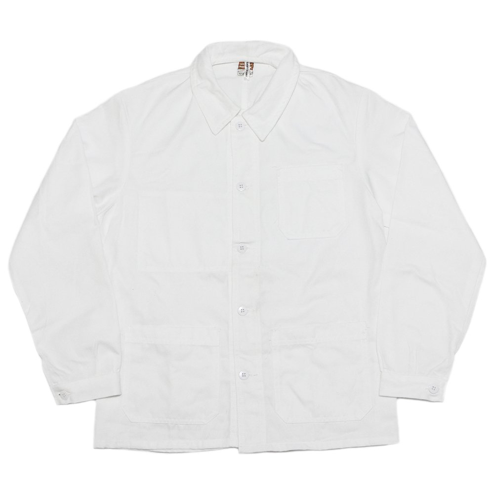 【Dead Stock】Vintage 70's French White Work Jacket