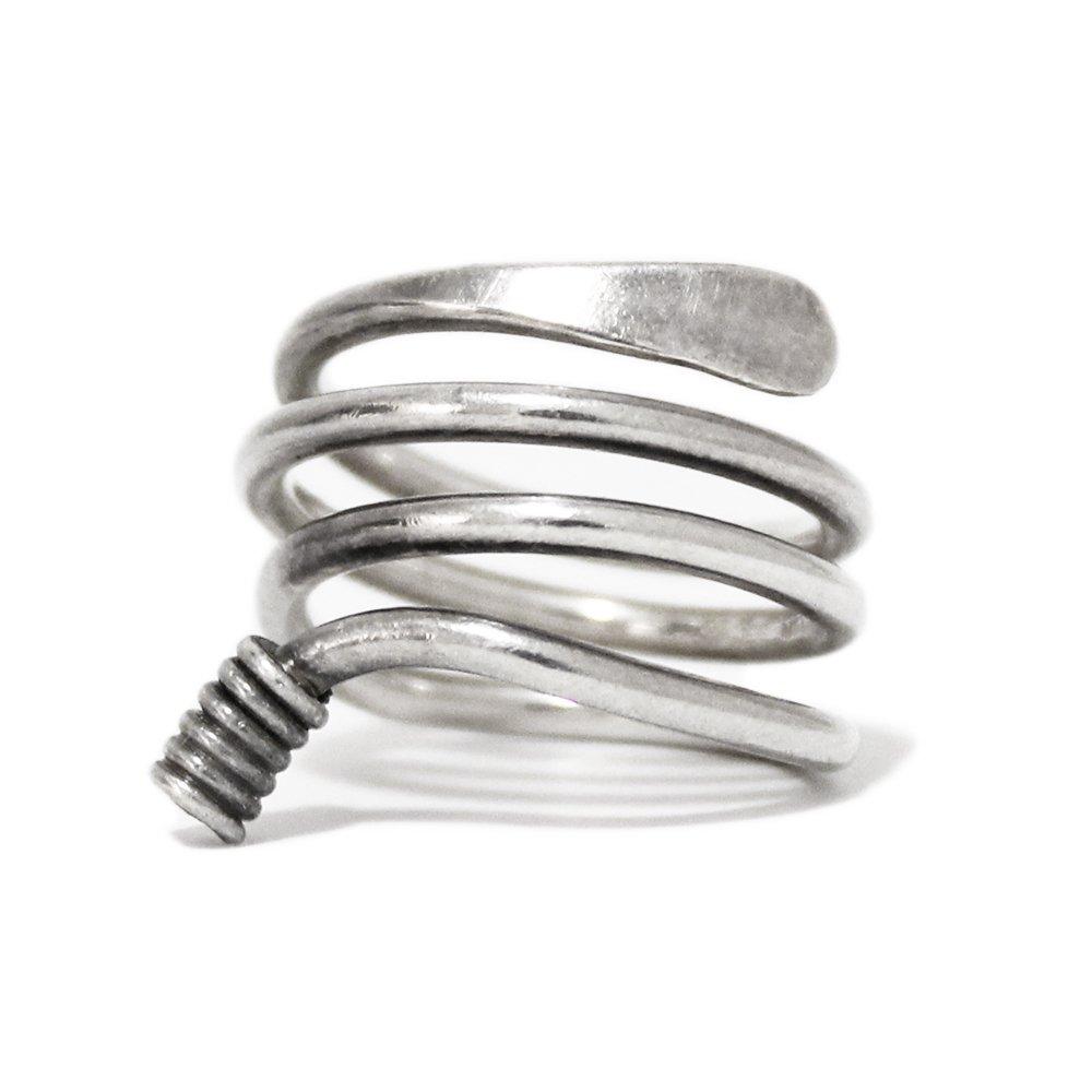 Vintage 1970's Mexican Screw Warp Ring