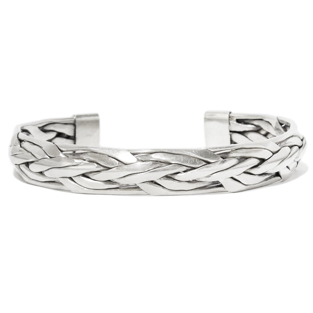 Vintage 70's Silver Braide Bangle -Heavy weight-
