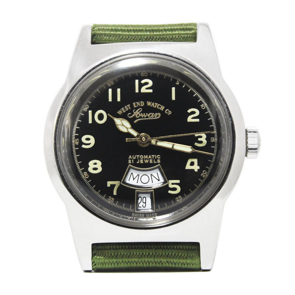 【Dead Stock】Vintage 70's West End Watch Co. Sowar Military Watch -Swiss Made-