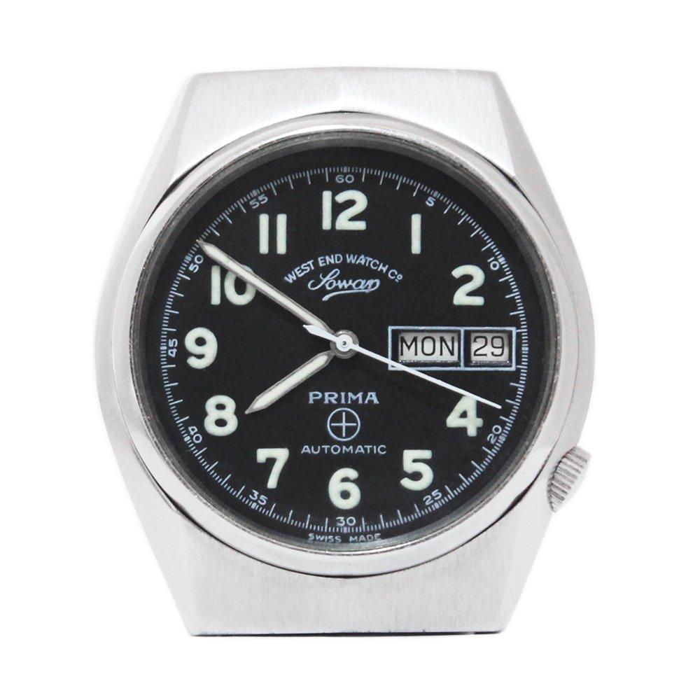 【Dead Stock】Vintage 70's West End Watch Co. Sowar Military Watch -Black × White-