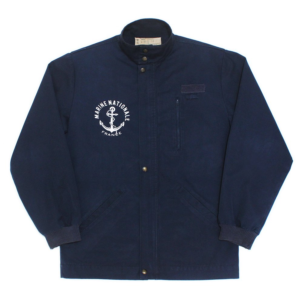 Vintage 90's French Navy Stand Neck Deck Jacket