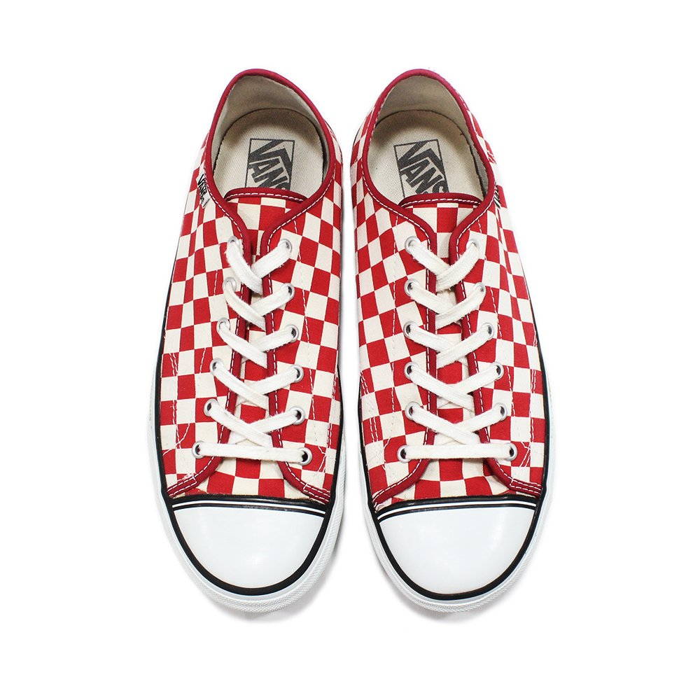 Vintage 90's Vans Checker Flag Shoes -Red-