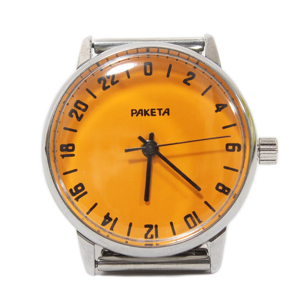 【New Old Stock】RAKETA Russian Wrist Watch -24 hours movement-